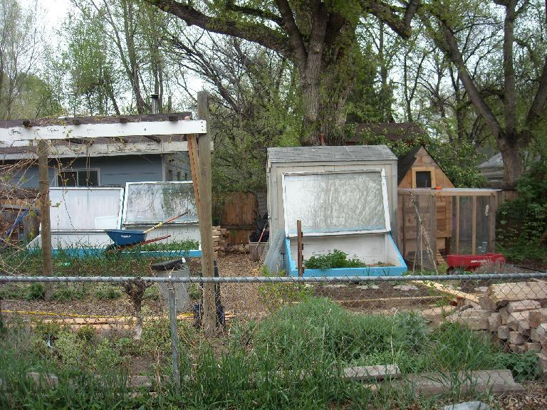 The folks who lived here had some serious garden greenhouses.