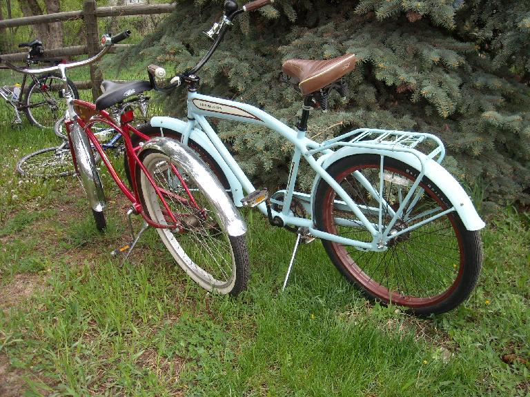 There were many New Belgium cruiser bikes such as these.