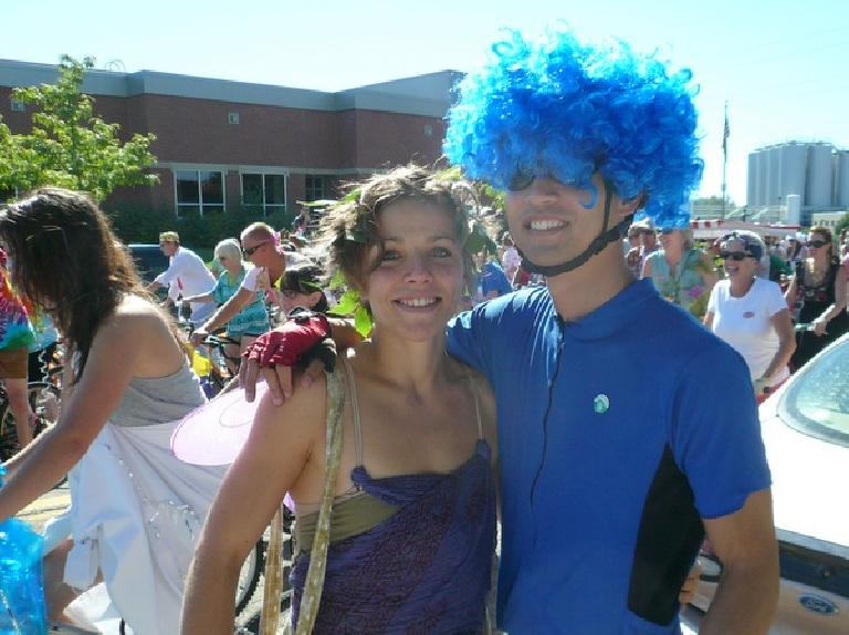 Leah the Fairy and Felix Wong the Cookie Monster.