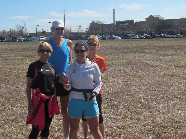 Cathy, Tom, Alene, and Ginger in front of Walmart #2.