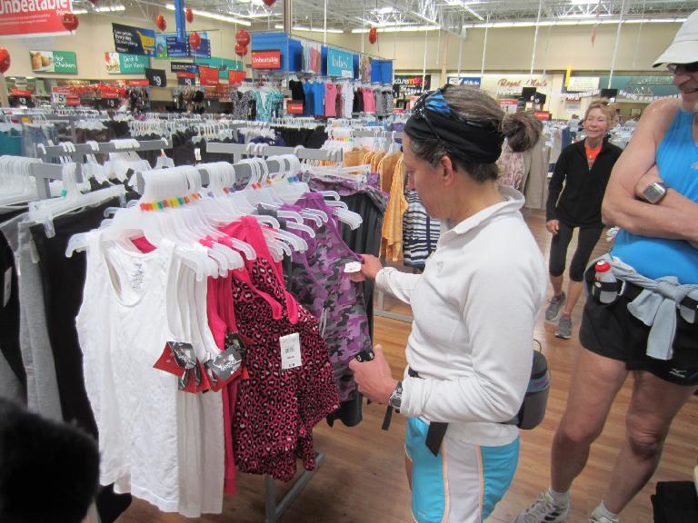 Alene looking for a new top.