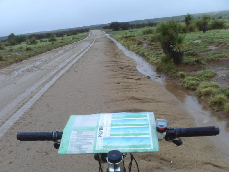 Day 27.5: More sand, monsoons, and demoralization due to thinking I was lost (I wasn't).  But then 70 miles of pavement to the Mexico border came... (July 10, 2008)