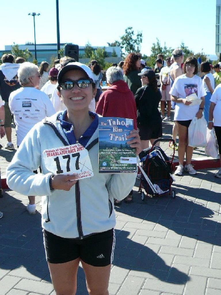 By being a lucky raffle winner, Alyssa won a book too.