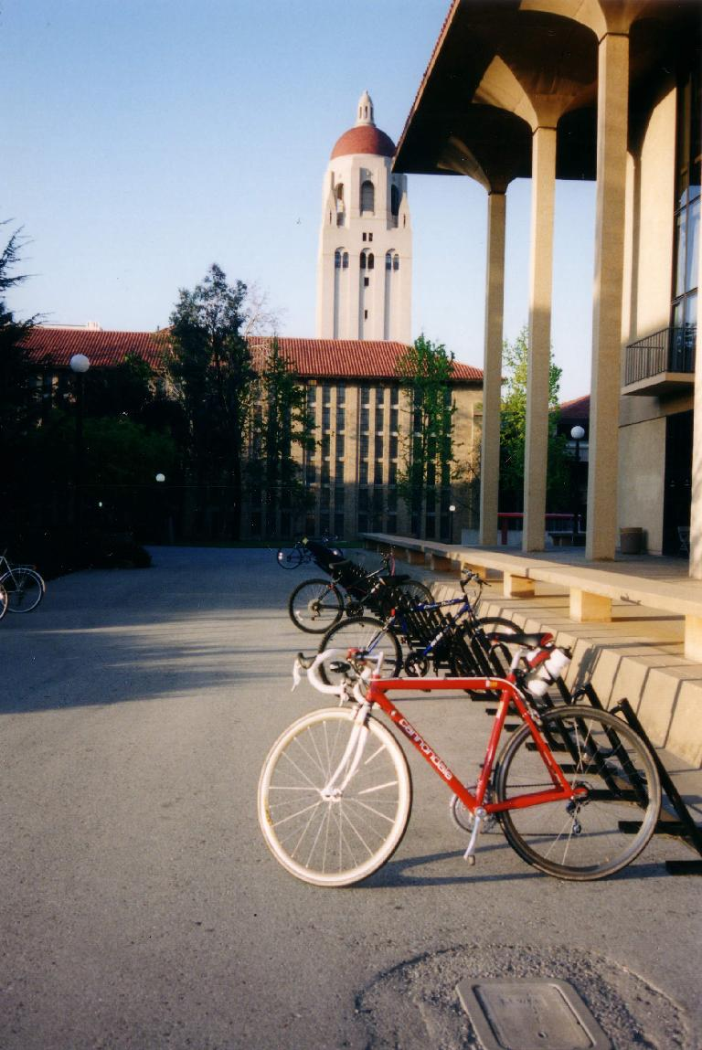 Canny at Stanford, almost nine years after she first rolled onto campus. (March 29, 2002)