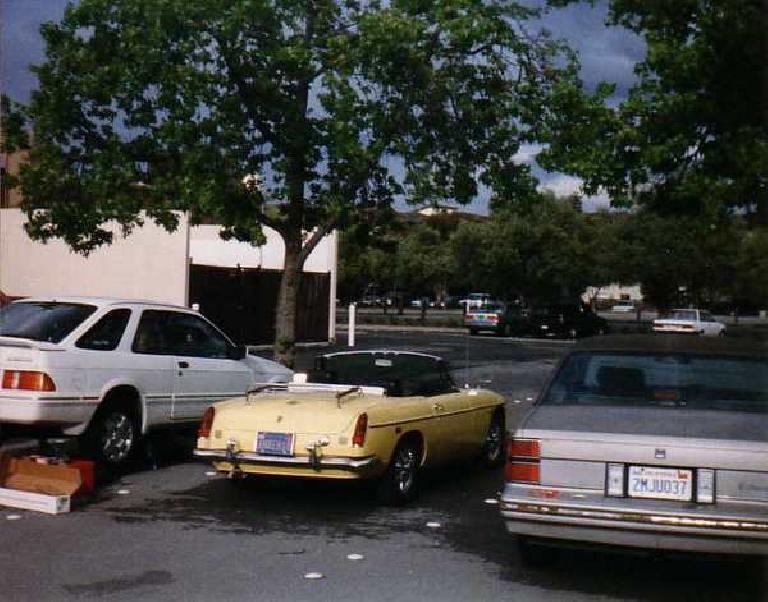 [May 2, 1998] I had graduated a year ago and was living in Fremont, but Goldie was a still great parts runner for fixing Venus' Merkur in the Stanford parking lot. (May 2, 1998)