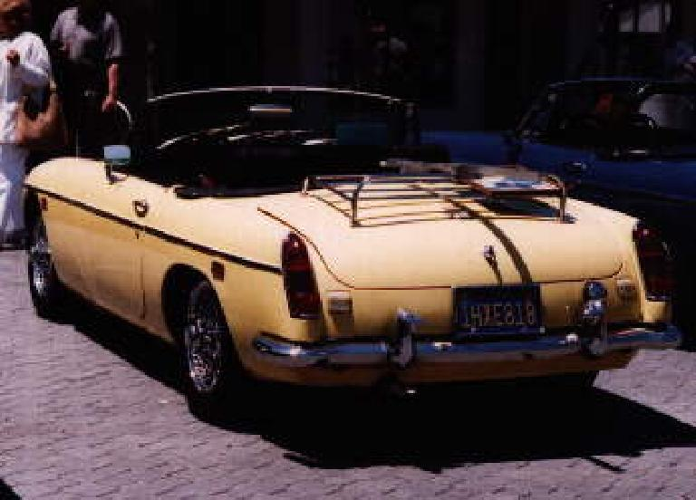 [May 30, 1998] Goldie won 3rd place in the chrome-bumpered MGB category at the MGs at Jack London Square car show. (May 30, 1998)