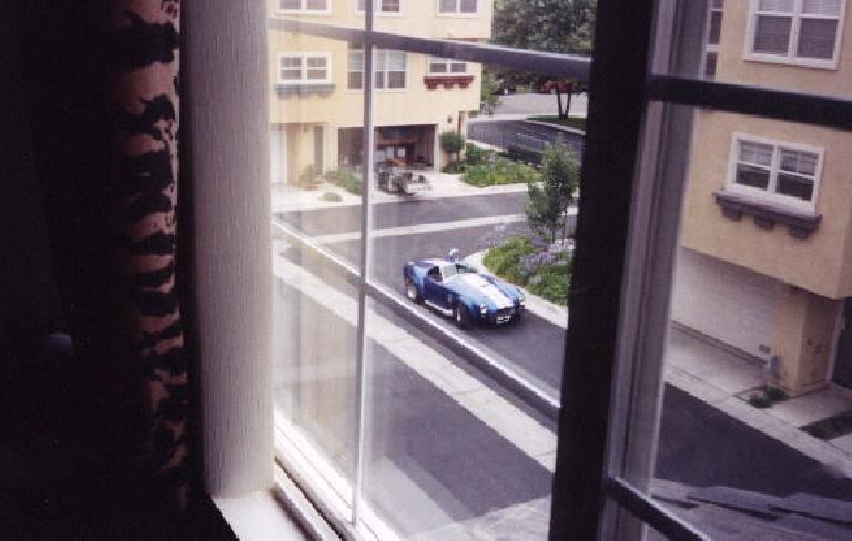 I awoke from bed only to see a beautiful blue AC Cobra replica right outside my house!