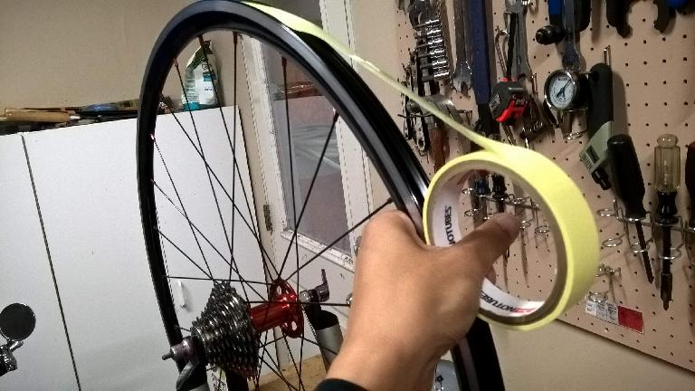 Successfully converting a pair of Yishun 27mm Alloy Clincher Road Wheels to tubeless using Stan's Rim Tape by Stan's NoTubes.