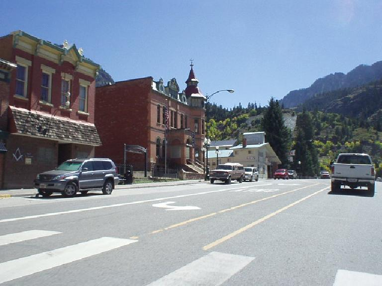 "Going through the town of Ouray, dubbed ""The Switzerland of America"".  This is where the scenery really starts to become impressive."