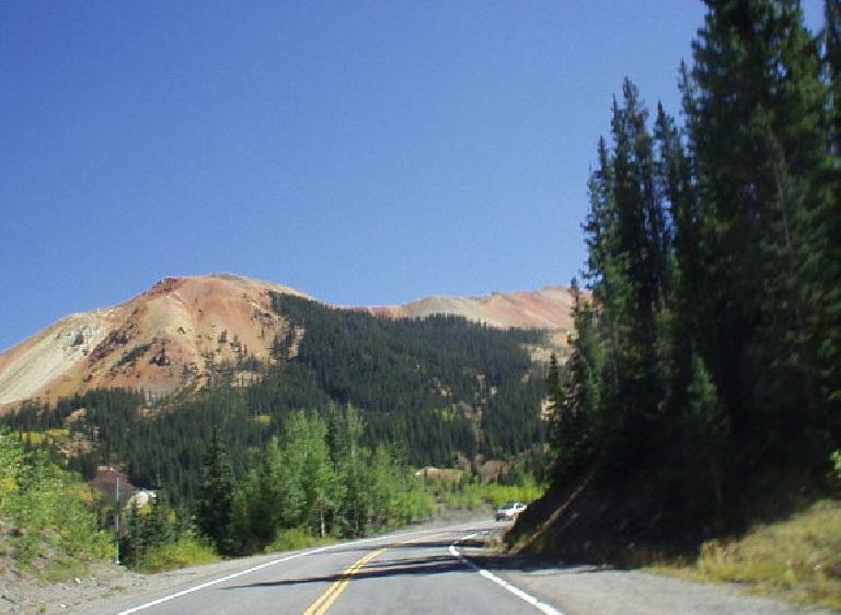Red rock mountain.
