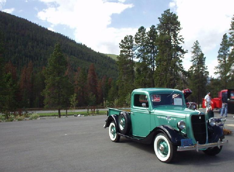 A 1934 or '35 (I forget) Ford pickup.