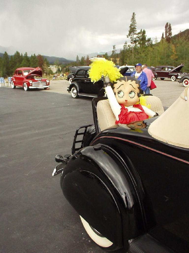 Betty Boop in the rumble seat.