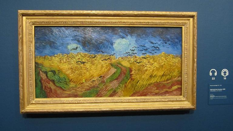 """Wheatfield with crows"" by Vincent van Gogh."