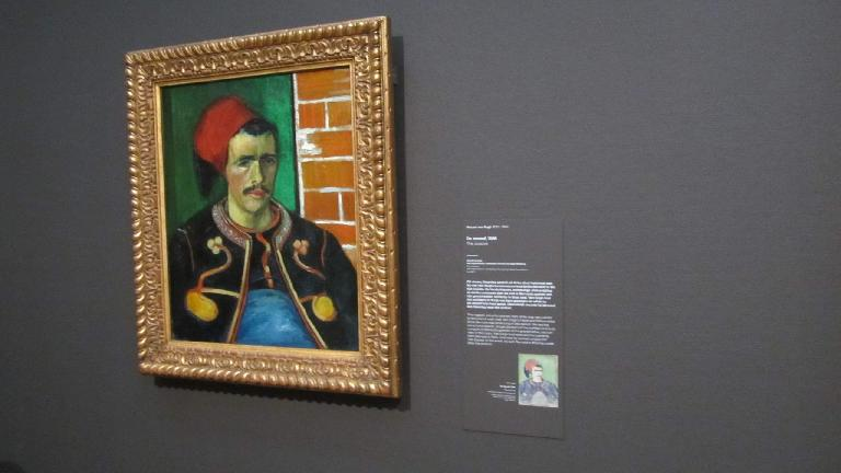"""The zouave"" by Vincent van Gogh."