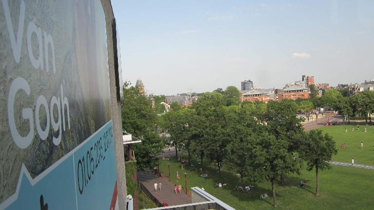 The view of Museumplein from the Van Gogh Museum.