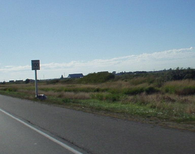The speed limit on this Canadian highway is 100!  Of course, this is in kilometers per hour.