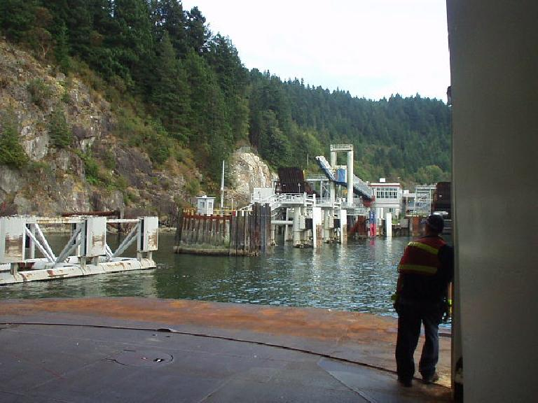 Approaching Horseshoe Bay from the ferry.