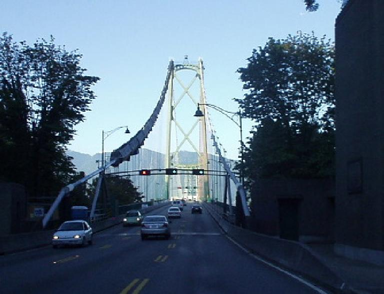 The Lions Gate Bridge at the northwest end of the city is a beautiful suspension bridge.