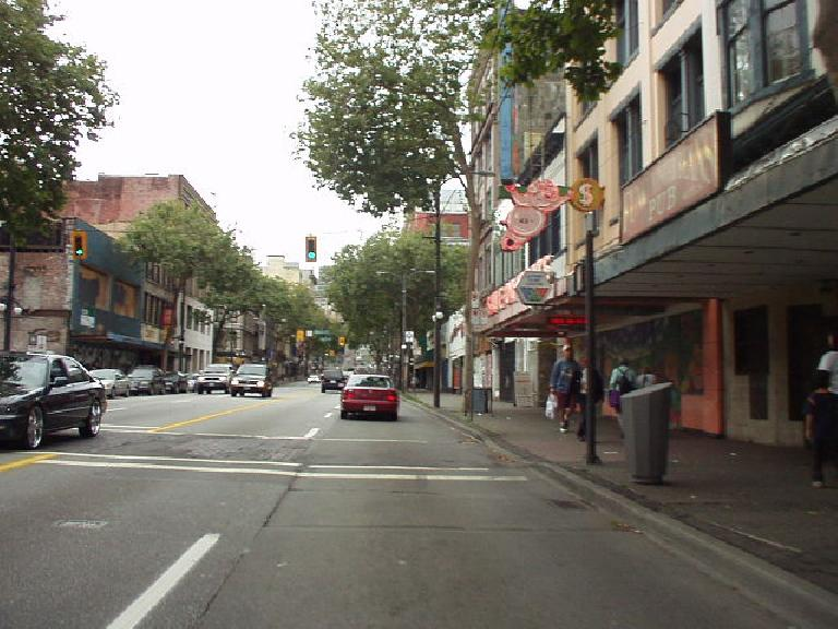 Chinatown is a distinct area apart from downtown.