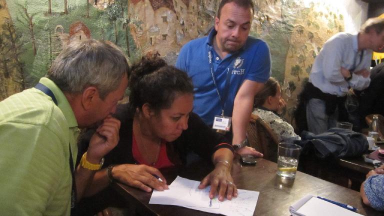 Jean, Nancy and Bernardo at Trivia Night. (August 26, 2013)