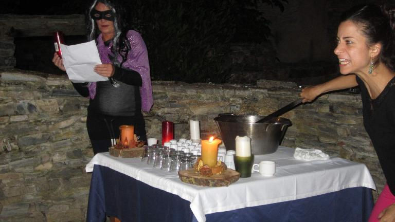 Carlota during the queimada ritual. (August 27, 2013)