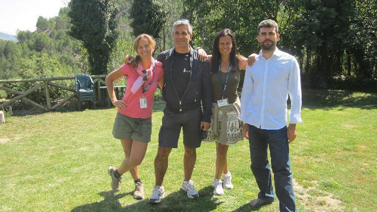 Barbara, Antonio, Susana and Jorge. (August 30, 2013)