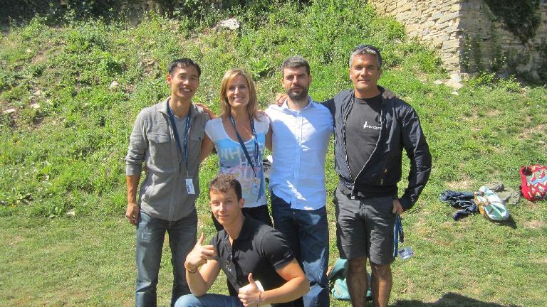 Felix, Javier, Nuria, Jorge and Antonio. (August 30, 2013)