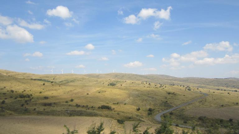 The landscape southwest of Valdelavilla. (August 30, 2013)