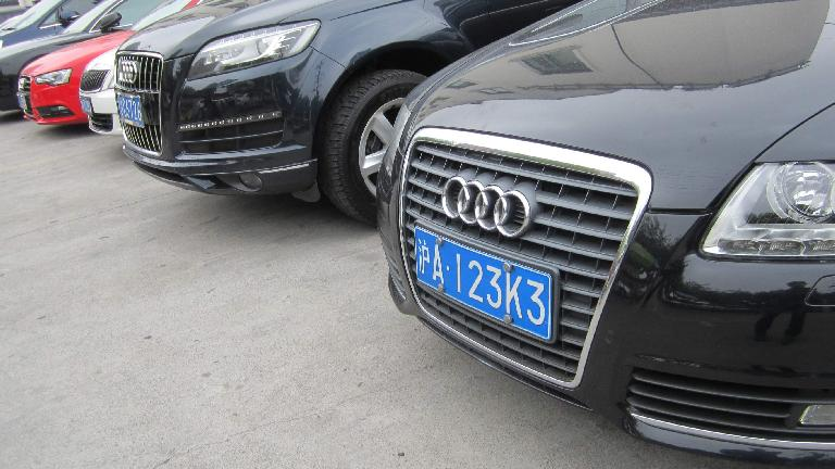 Audis are very popular in China. (May 17, 2014)