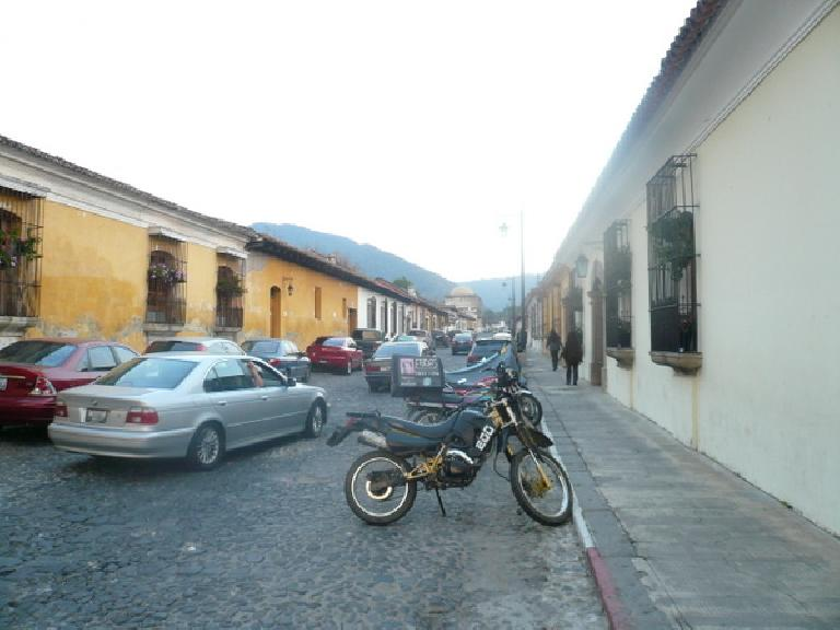 BMWs and other luxury cars can be found in (relatively) wealthy Antigua, which is home to many ex-patriots. (December 25, 2010)