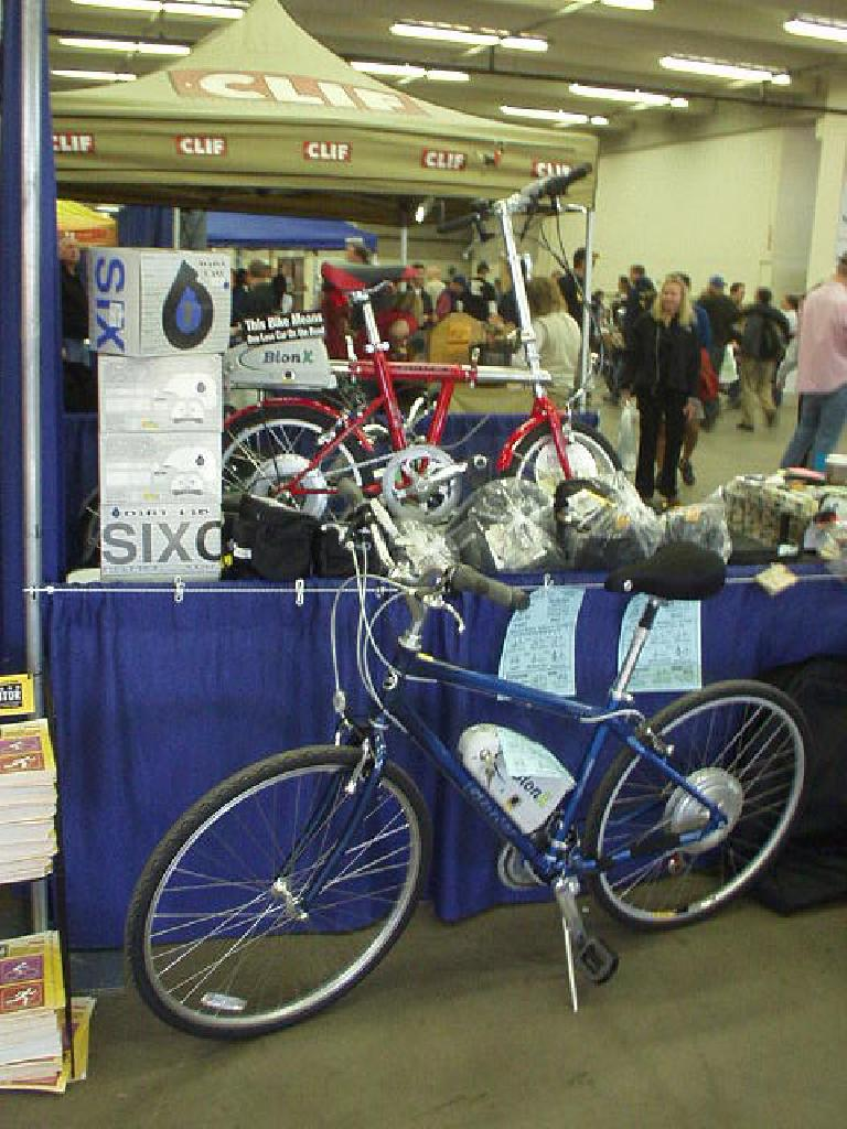 Bikes equipped with a BionX electric motor.