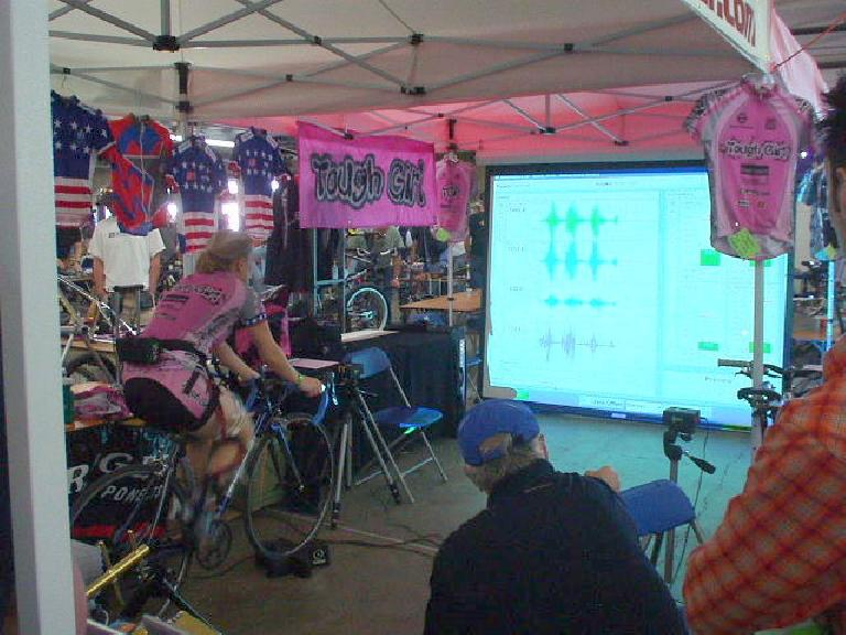 The Tough Girls were on hand doing a Computrainer demo.