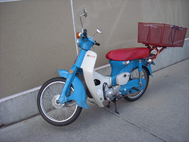 There was this very nice Honda Super Cub, perhaps from the 1960s, that looked just like the ones I saw in Vietnam.