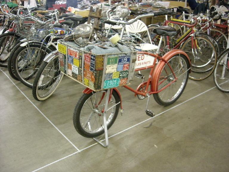 Antique delivery bike.