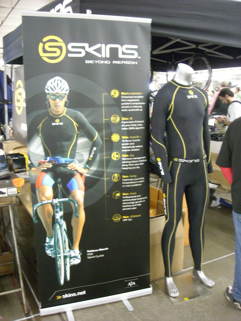 "These ""Skins"" are designed to reduce lactic acid buildup by compressing the muscles."