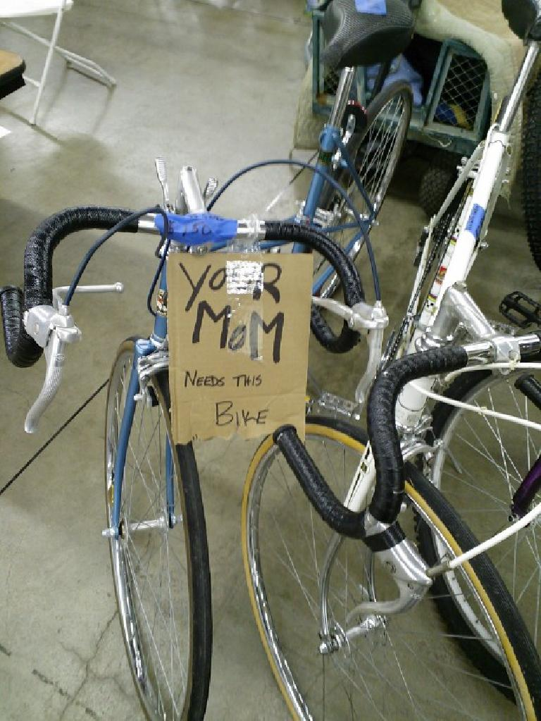 """Your mom needs this bike."""