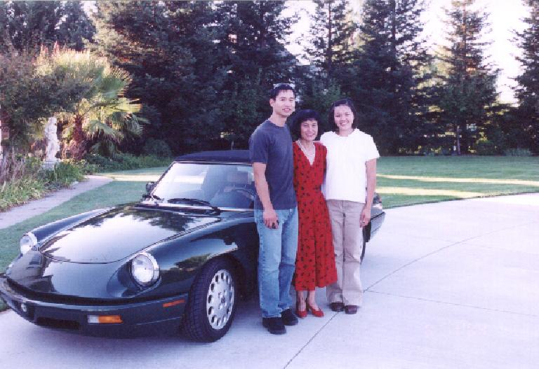 A pic with my little Alfa and my mom.