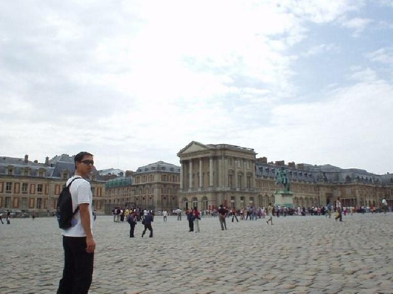 Felix Wong walking towards this colossal palace, first created by King Louis XIV (known as the Sun King).
