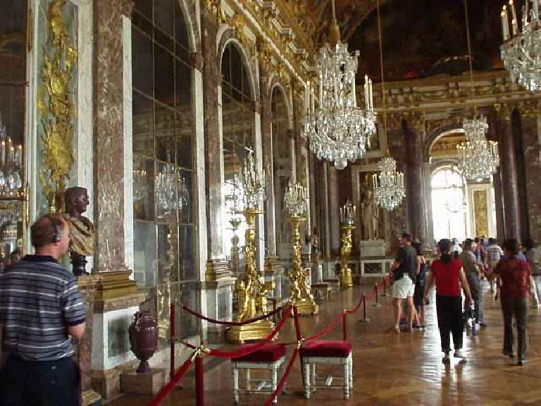The Hall of Mirrors was a room filled with... mirrors, which were quite rare in the 17th century.