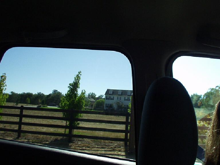 Sweet Sharon drove me to/from Santa Rosa, and we were able to scout the run course the day before the race.  The run course--much improved over the previous years (when people got lost)--would pass by some very nice homes in meandering, rolling countryside.