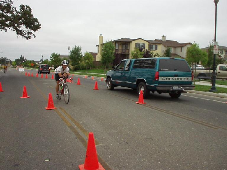 [Bike Mile 57, 5:08:xx elapsed] I didn't feel spectacular on the bike, but the important thing was I conserved enough energy to set me up for the run. Photo: Sharon Schneckenberger.