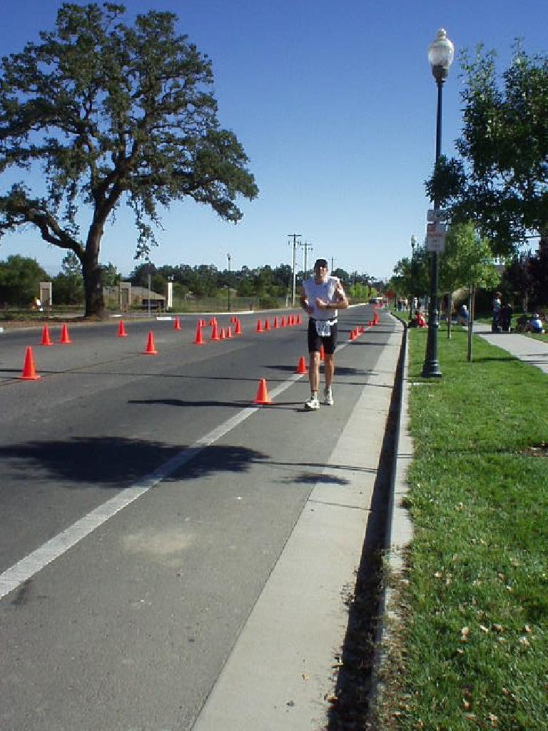[Run Mile 8.6, 9:58:xx elapsed] I would see Russ a number of times, who finished as well despite battling some gastro-intestinal problems all day. Photo: Sharon Schneckenberger.