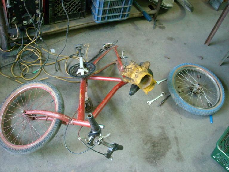 This customer bike also had shot bearings and cups. (December 30, 2010)