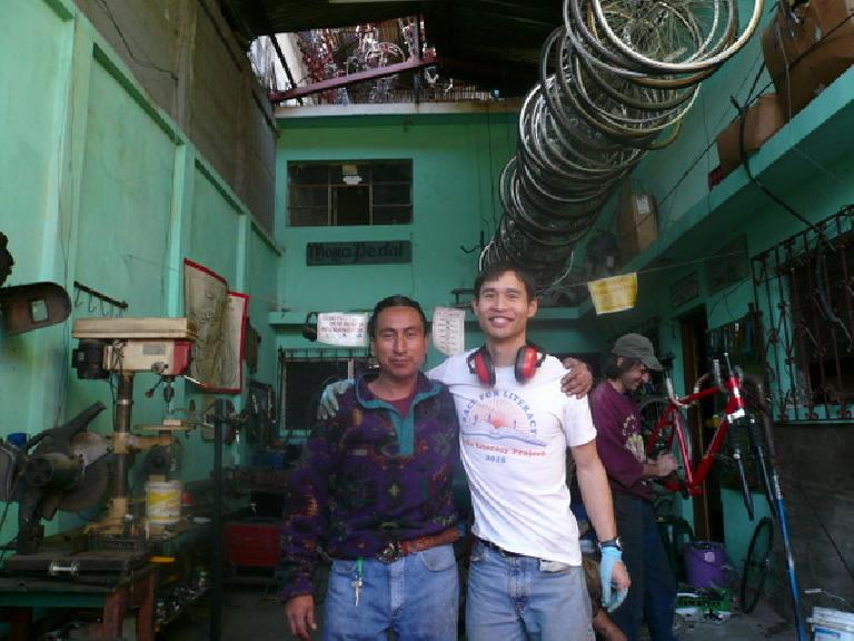 Me and Carlos on my last full day at Maya Pedal. (January 6, 2011)