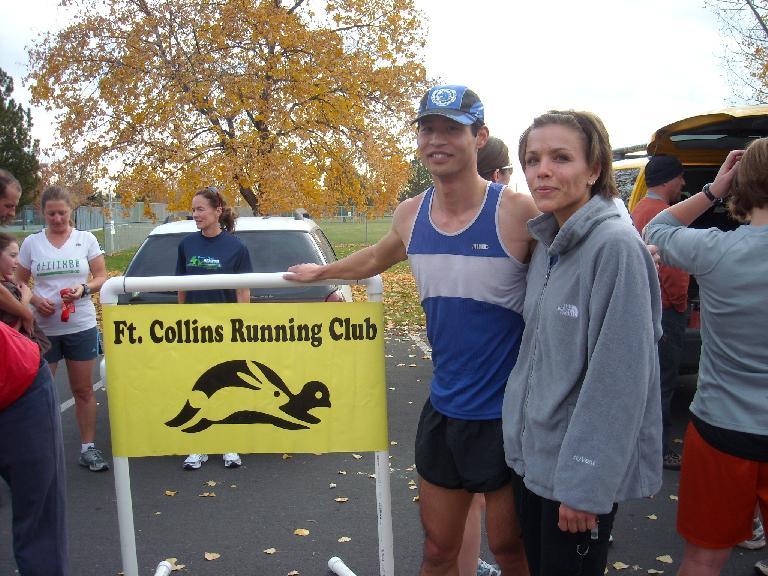 Felix Wong and Leah at the finish.