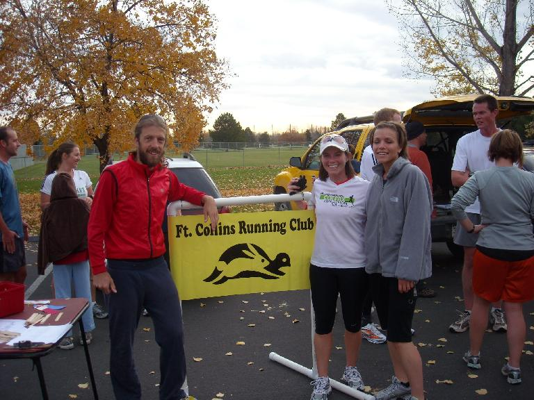 Nick, Katie and Leah after the finish.