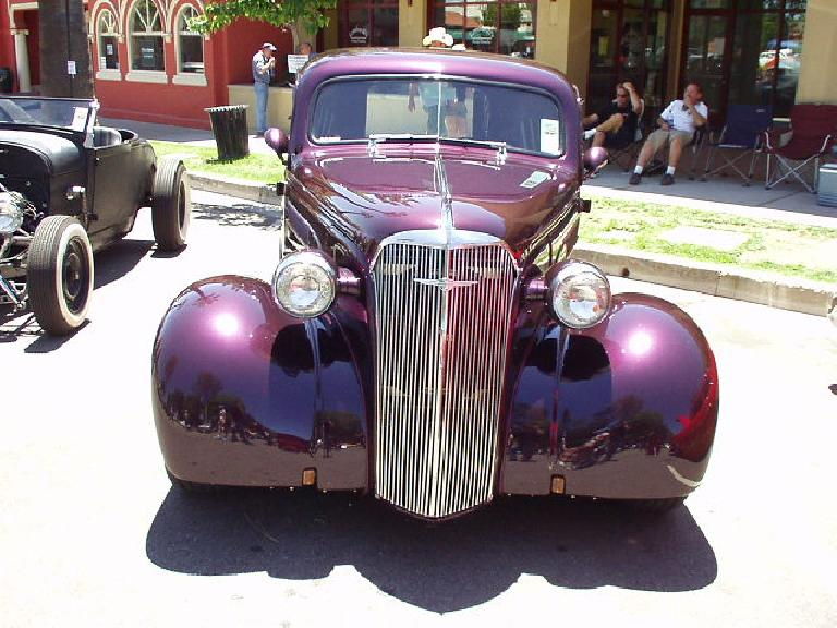 Front ends of early era hot rods like this were the inspiration for the modern day Chrysler PT Cruiser.