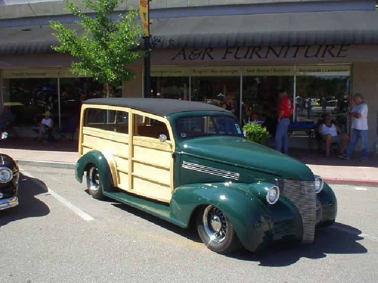 A nice two-door woody wagon.