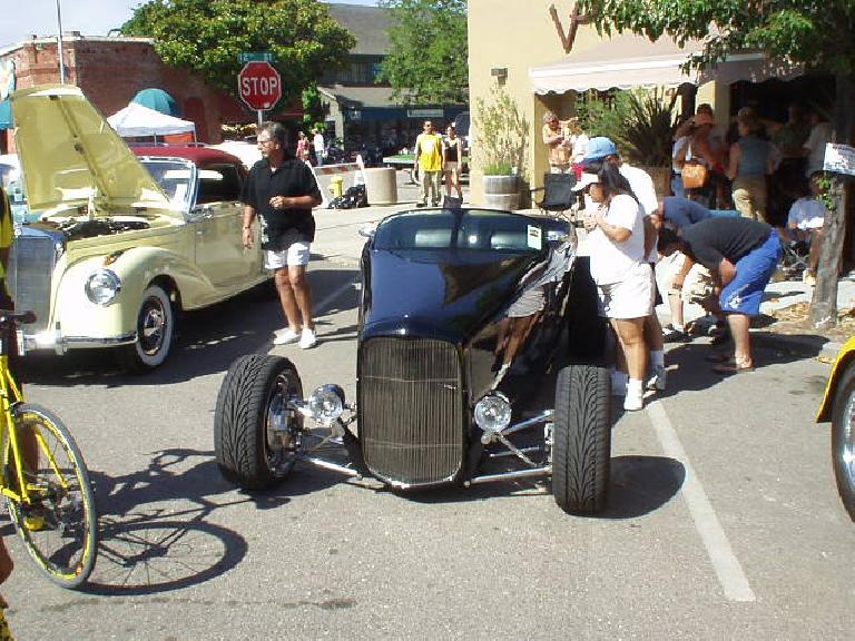 If I were to build a 'rod, it probably would be a roadster.  The bicycle at the left was a $6000 Casati that was ridden in the GWBR time trial that morning.  I do believe I beat it!