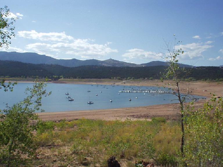 [Mile 132, 3:26 p.m.] Sailboats in Carter Lake.